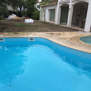 French Villa Management Pool installation Cannes
